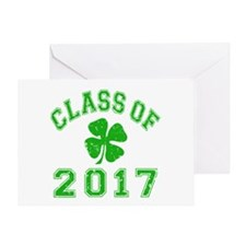 Class Of 2017 Shamrock Greeting Card