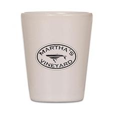 Martha's Vineyard MA - Oval Design. Shot Glass