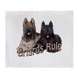 Briards Rule Throw Blanket