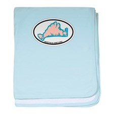 Martha's Vineyard MA - Oval Design. baby blanket