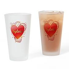 Sylvia Valentines Drinking Glass