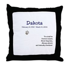 Pet Tribute Throw Pillow