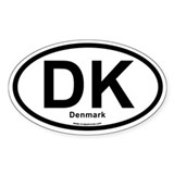 DK Denmark Decal