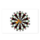 Dartboard Bullseye Postcards (Package of 8)