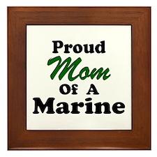 Proud Mom of a Marine Framed Tile