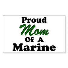 Proud Mom of a Marine Rectangle Decal