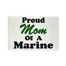 Proud Mom of a Marine Rectangle Magnet