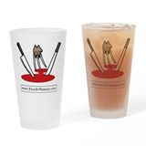 Trio Of Terror Drinking Glass