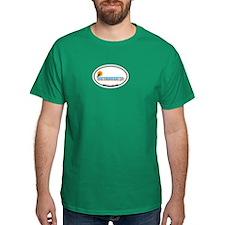 Martha's Vineyard MA - Oval Design. T-Shirt