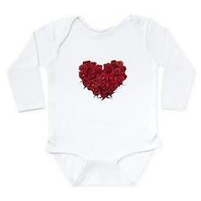 Rosy Heart Long Sleeve Infant Bodysuit