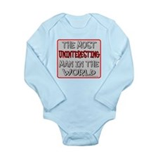 MOST UNINTERESTING MAN Long Sleeve Infant Bodysuit