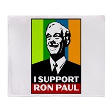 Support Ron Paul Throw Blanket