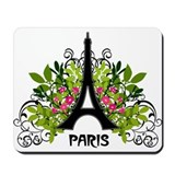 Paris Eiffel Flourish Mousepad