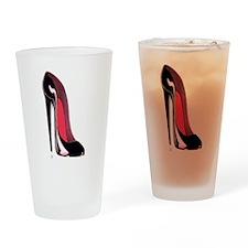 Black Stiletto Shoe Drinking Glass