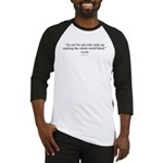 Gandhi Quote Gear Baseball Jersey