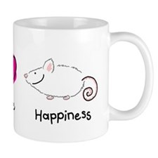 Peace Love and Rats Mug