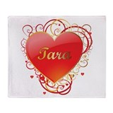 Tara Valentines Throw Blanket