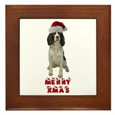 Springer Spaniel Christmas Framed Tile