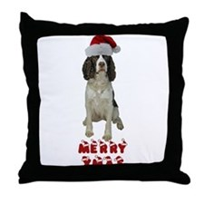 Springer Spaniel Christmas Throw Pillow