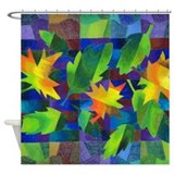 Leaf Mosaic Shower Curtain