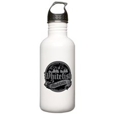 Whitefish Old Silver Water Bottle