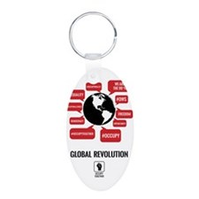 Occupy Planet Keychains