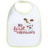 1st Valentines Day Puppy Bib