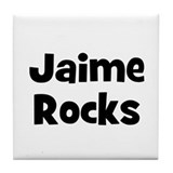 Jaime Rocks Tile Coaster