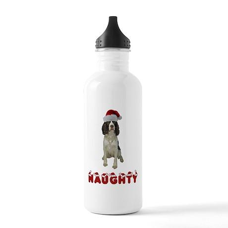 Naughty Springer Spaniel Stainless Water Bottle 1.