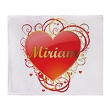 Miriam Valentines Throw Blanket