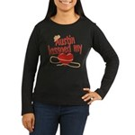 Austin Lassoed My Heart Women's Long Sleeve Dark T