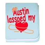 Austin Lassoed My Heart baby blanket