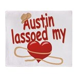 Austin Lassoed My Heart Throw Blanket