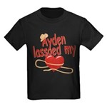 Ayden Lassoed My Heart Kids Dark T-Shirt