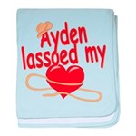 Ayden Lassoed My Heart baby blanket