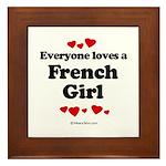 Everyone loves a French Girl - Framed Tile