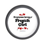 Everyone loves a French Girl -  Wall Clock