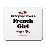 Everyone loves a French Girl -  Mousepad