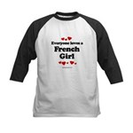 Everyone loves a French Girl -  Kids Baseball Jers