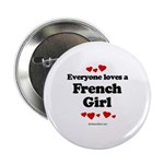 Everyone loves a French Girl - Button