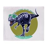 T-Rex Shades Throw Blanket