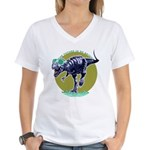 T-Rex Shades Women's V-Neck T-Shirt