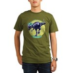 T-Rex Shades Organic Men's T-Shirt (dark)
