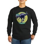 T-Rex Shades Long Sleeve Dark T-Shirt