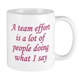 Team Effort Definition Small Mug