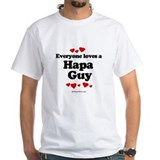 Everyone loves a Hapa Guy - White T-shirt