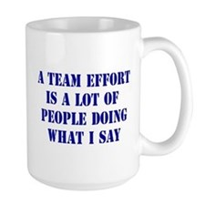 Team Effort Definition Coffee Mug