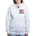 america fuck yeah Women's Zip Hoodie