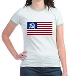 American flag Jr. Ringer T-Shirt