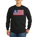 American flag Long Sleeve Dark T-Shirt